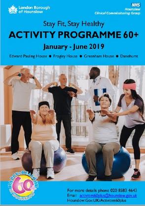 New 60+ Activities guide October to December 2018
