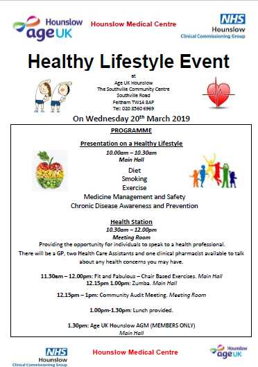 AGE UK Hounslow Healthy Living Event image