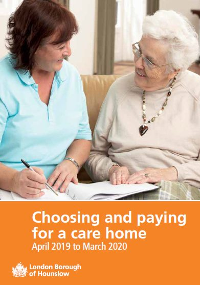 Click to download Choosing and Paying for a Care Home