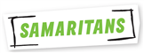 Service logo for The Samaritans Helpline - help if you are having thoughts of suicide or just want to talk
